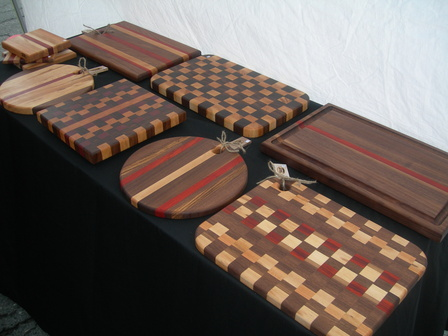 wood products cutting boards butcher blocks, hand crafted by eric,